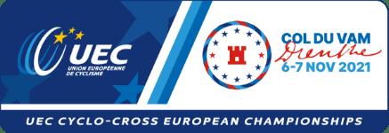 Logo UEC European Championships Col du Vam Cyclocross